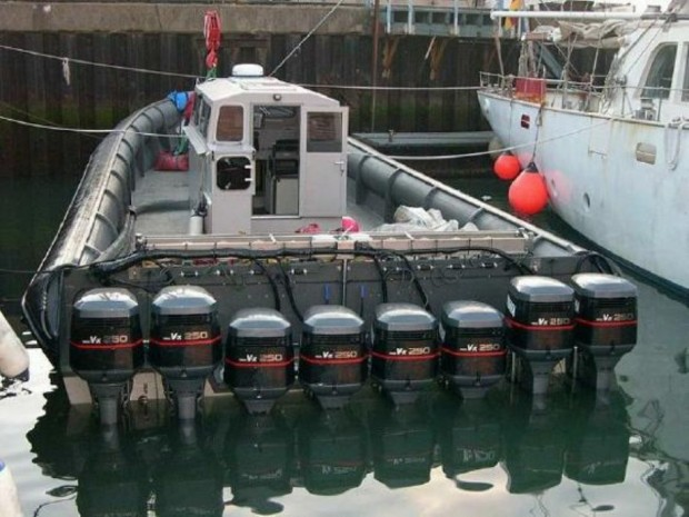 2000 hp outboard inflatable boat
