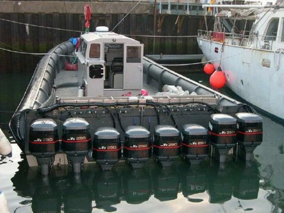 2,000 HP Outboard Inflatable Fishing Boat