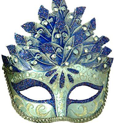 8eighteen-Mardi-Gras-Masquerade-Colombina-Leaf-Venetian-Mask-Blue-0