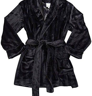 Majestic-International-Mens-Long-Sleeve-Smoking-Jacket-Black-36695-Small-0