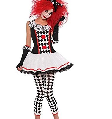 NonEcho-Womens-Halloween-Costume-Sexy-Harlequin-Clown-Outfit-Kit-Adult-0