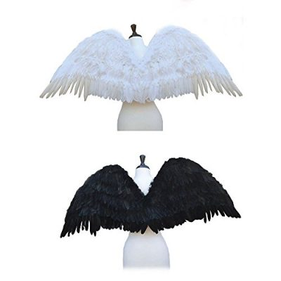 SACASUSA-TM-Large-Feather-Halloween-Costume-Angel-Wings-2-colors-Black-or-White-0