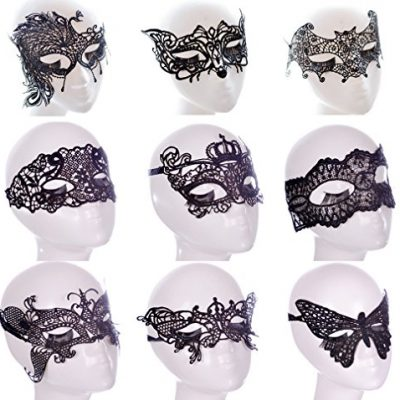 YallFairy-9pcs-Women-Costume-Halloween-Party-Lace-Sexy-Eye-Mask-Veil-Masquerade-0