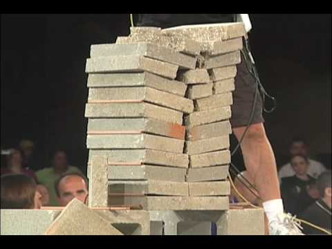 Breaking Bricks. There's a Wrong Way And There's A Right Way.