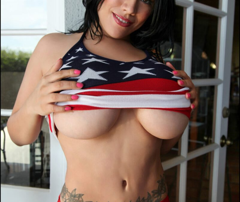 Stars and Stripes Forever Hot Women in Bikinis