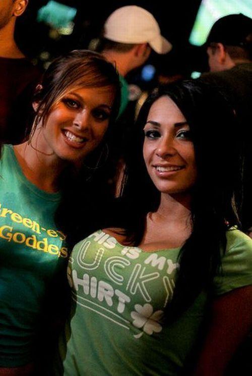 St Patricks Day party girls