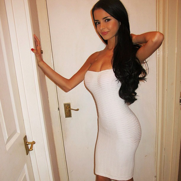 Hot Girl In Tight White Dress