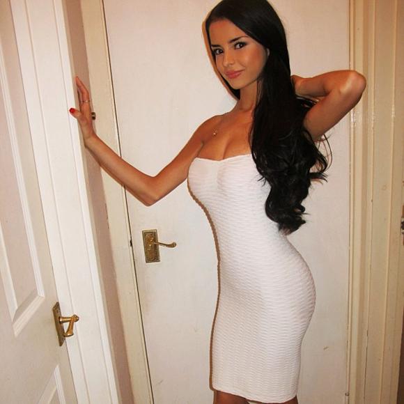 Hot Girl In Tight White Dress