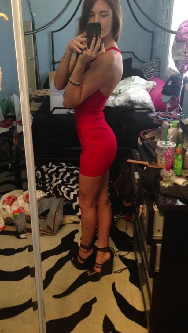 Hot Girl In Tight Red Dress