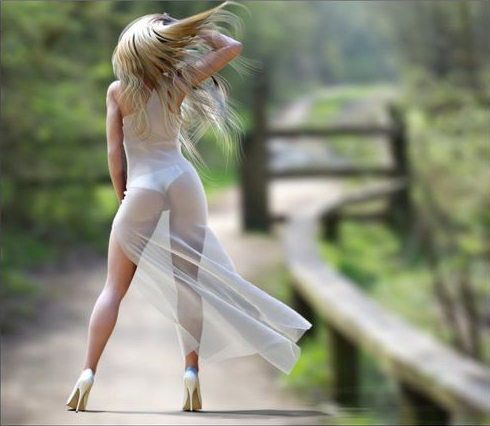Hot Girl Wearing See Through Dress