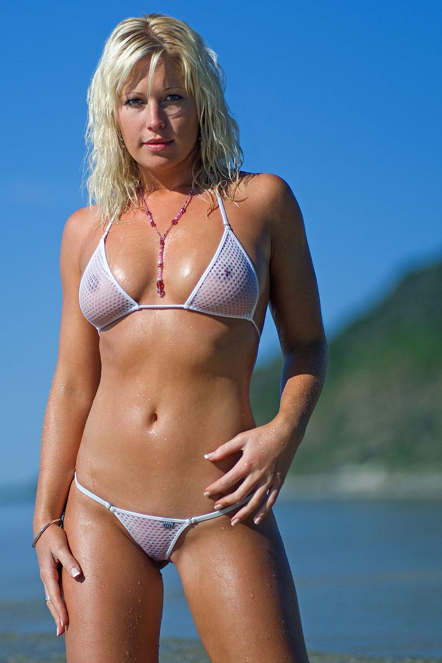 Hot Girl Wearing See Through bikini