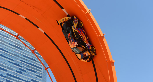 Dreams Do Come True. Hot Wheels Double Loop Dare Sets World Record.