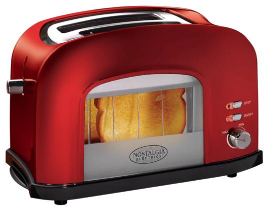 Nostalgia Electrics RWT500RETRORED Retro Series Window Toaster,