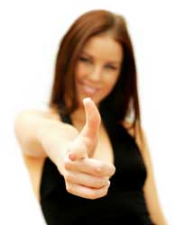Woman pointing finger like a gun